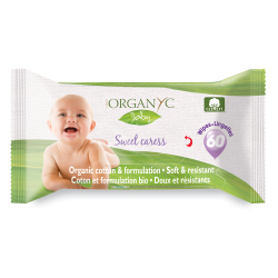 Вологі серветки дитячі органічні Organyc, 60 шт.