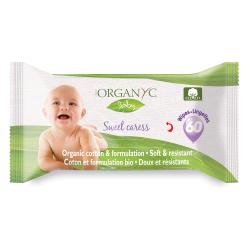 Organyc 100% Organic Cotton Baby Wipes, 60 pcs.
