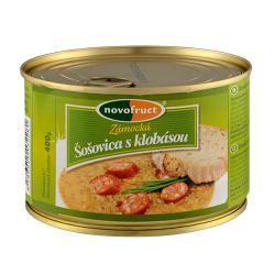 Сочевиця із копченими ковбасками Novofruct, 400 г