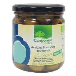 Оливки зелені Manzanilla без кісточок органічні Campomar Nature, 350 г