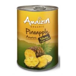 Скибочки ананаса Amaizin органічні, 400 г