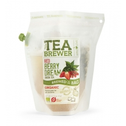 The Teabrewer by April Love Red Berry Dream Organic Green Tea, 4 g