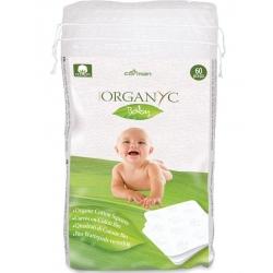 Organyc Baby 100% organic cotton squares, 60 pcs
