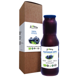 Паста чорнична Liqberry органічна, 1000 г