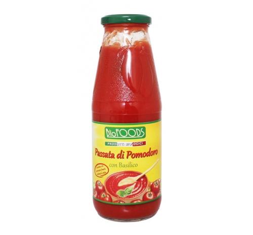 Пюре томатне із базиліком Biofoods органічне, 680 г