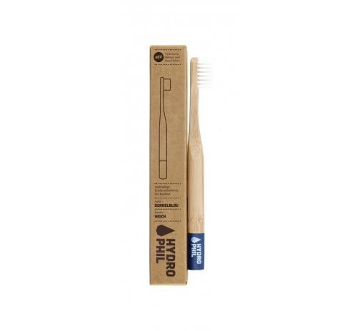 Hydrophil Sustainable Antibacterial Kids Toothbrush, Soft, Dark Blue