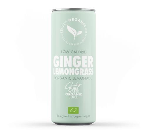 Напій газований органічний Level Organic Ginger Lemongrass Organic Lemonade, 250 мл
