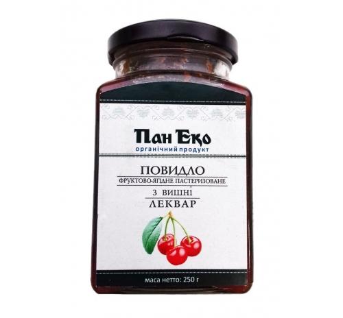 """Повидло фруктово-ягодное из вишни """"Леквар"""" Пан Эко пастеризованное органическое, 250 г"""