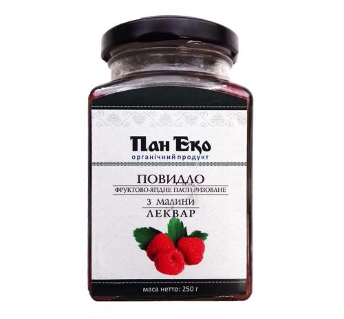 """Повидло фруктово-ягодное из малины """"Леквар"""" Пан Эко пастеризованное органическое, 250 г"""