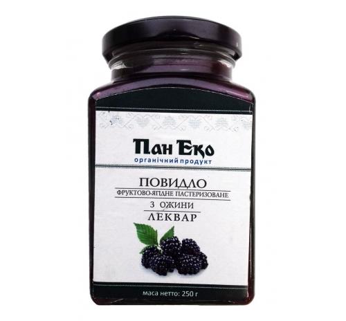 """Повидло фруктово-ягідне з ожини """"Леквар"""" Пан Еко пастеризоване органічне, 250 г"""