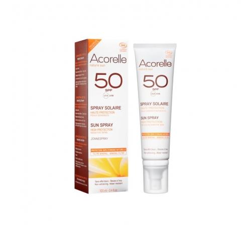 Спрей сонцезахисний SPF 50 органічний Acorelle, 100 мл