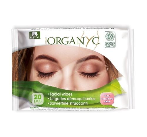 Серветки вологі для обличчя очищаючі бавовняні 20 шт, органічні CORMAN Італія