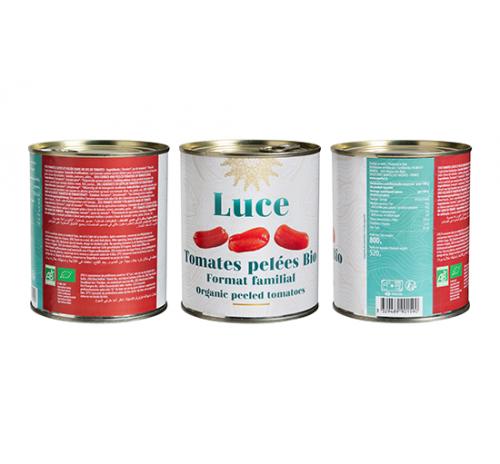 Томати цілі очищені 800г, органічні Luce Італія