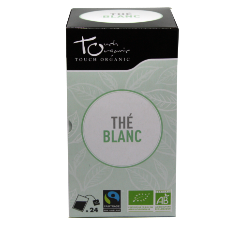 White tea 48g (24* 2g) unfermented in bags organic TOUCH ORGANIC China