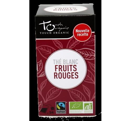 Чай білий 43,2г(24*1,8г) з ароматом суміші ягід неферментований в пакетиках органічний TOUCH ORGANIC Китай