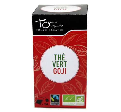 Green tea 43,2g (24*1,8g) with goji berries unfermented in bags organic TOUCH ORGANIC China