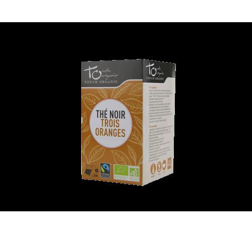 Чай чорний 43,2г (24*1,8г) з ароматом апельсину ферментований в пакетиках органічний TOUCH ORGANIC Китай