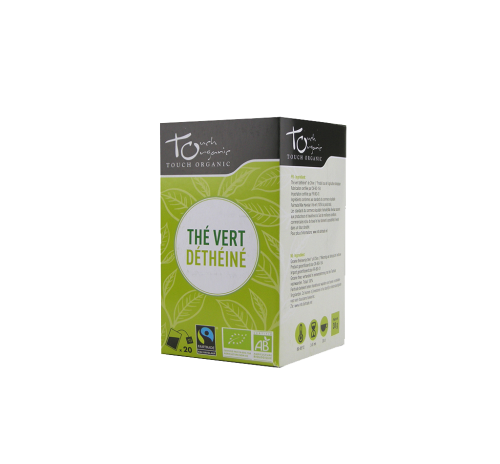 Green tea 30g (24*1,5g) without caffeine unfermented in bags organic TOUCH ORGANIC China