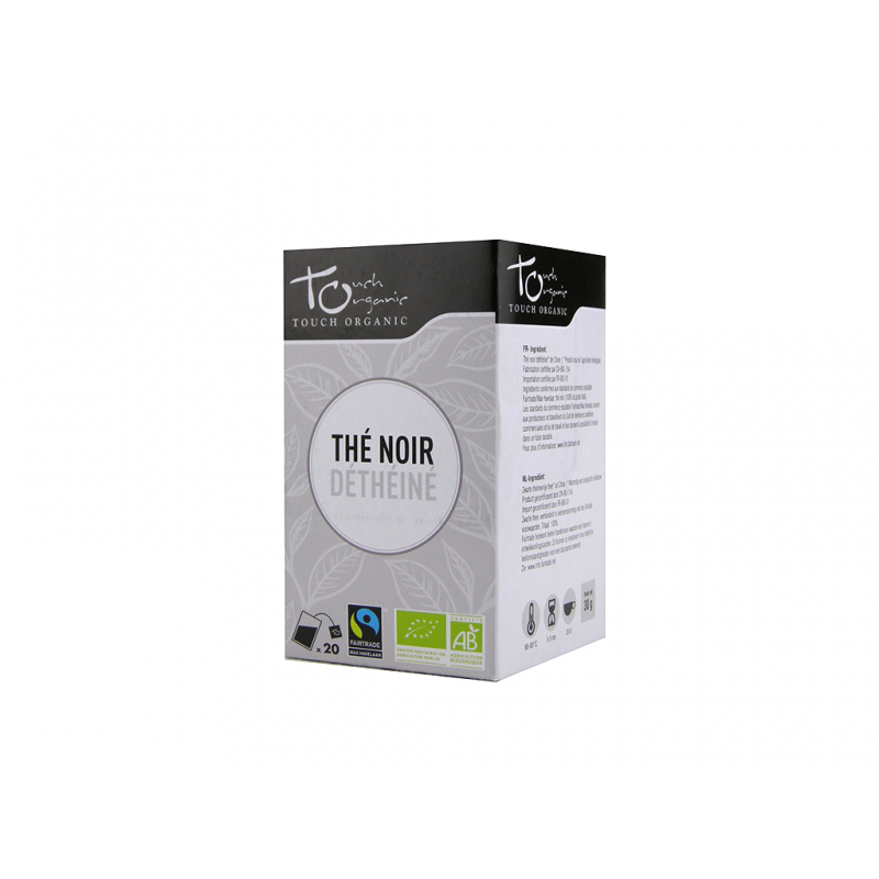 Black tea 30g (24*1,5g) without caffeine fermented in bags organic TOUCH ORGANIC China