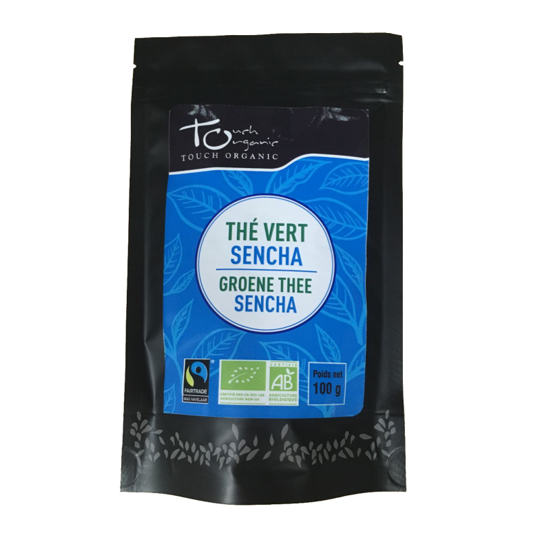 Sencha green tea 100g unfermented loose organic TOUCH ORGANIC China
