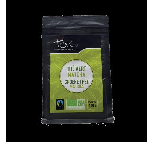 Чай зеленый Матча 100г с ароматом бергамота неферментированый рассыпной органический TOUCH ORGANIC Китай