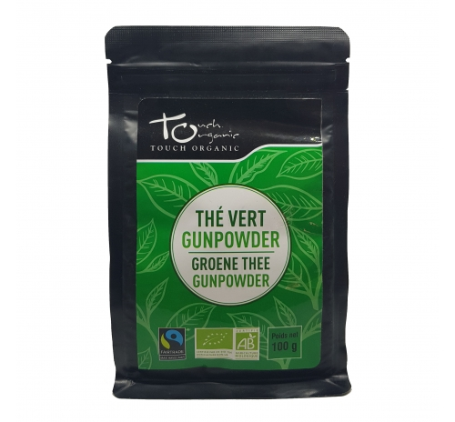 Чай зеленый Ганпаудер 100г неферментированый рассыпной органический TOUCH ORGANIC Китай