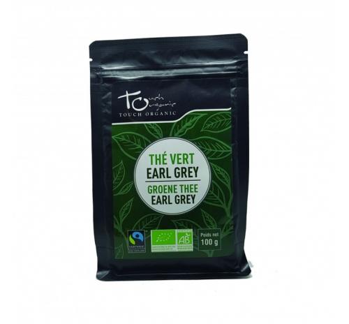 Чай зеленый Эрл Грей 100г с ароматом бергамота неферментированый рассыпной органический TOUCH ORGANIC Китай