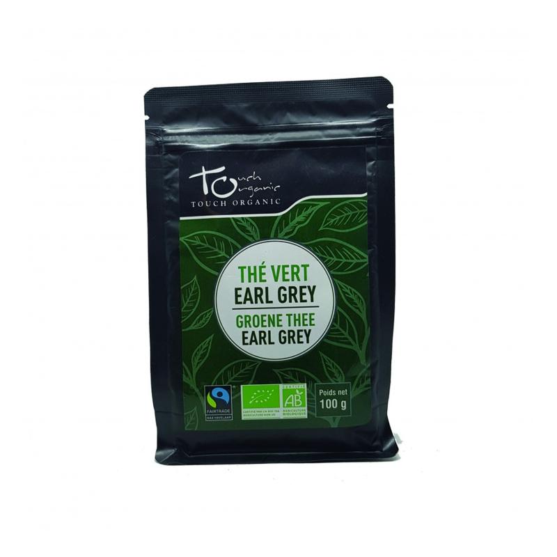 Earl Gray Green Tea 100g with bergamot aroma unfermented loose organic TOUCH ORGANIC China