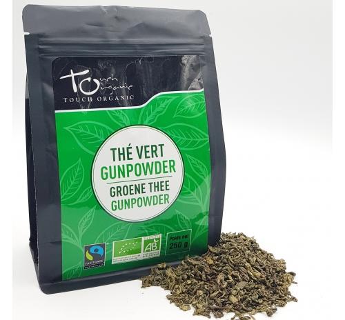 Чай зелений Ганпаудер 250г неферментований  розсипний органічний TOUCH ORGANIC Китай