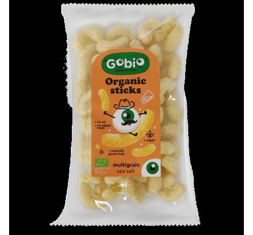 Organic Sticks multigrain with оrganic sea salt 25g, GO BIO Ukraine