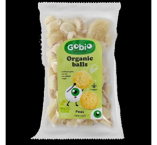 Organic peas balls with sea salt 20g, GO BIO Ukraine