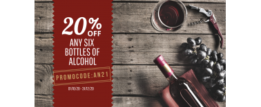 Up to 30% discount on alcohol!
