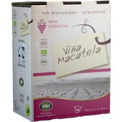 Вино рожеве сухе Macatela Garnacha органічне, 3 л