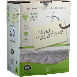 Вино біле сухе Macatela Airen органічне, 3 л