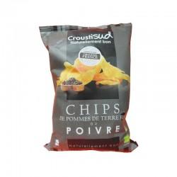 Чіпси картопляні з перцем Croustisud органічні, 100 г