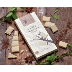 Шоколад білий iChoc White Vanilla з бурбонською ваніллю органічний, 80 г