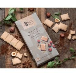 Шоколад білий iChoc White Nougat Crisp з нугою органічний, 80 г