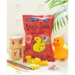 Кукурудзяні снеки Angelina з яблуком і полуницею органічні, 30 г