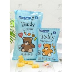 """Кукурудзяні снеки Teddy """"Морква і гарбуз"""" органічні, 4х15 г"""