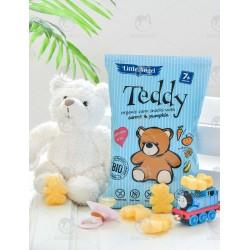 """Кукурудзяні снеки Teddy """"Морква і гарбуз"""" органічні, 30 г"""