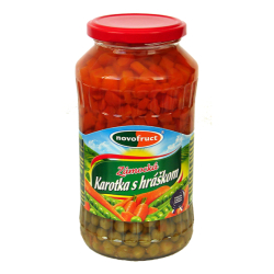 "Овочева суміш ""Морква із зеленим горошком"" Novofruct стерилізована, 640 г"