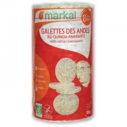 Хлібці рисові з кіноа та амарантом Markal органічні, 100 г