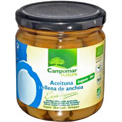 Оливки зелені з анчоусом Campomar Nature органічні, 350 г
