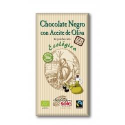 Шоколад чорний 73% з оливковою олією Chocolates Solé  органічний, 100 г