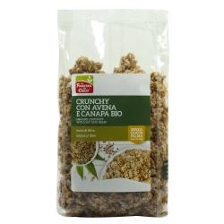 Кранчі з вівсяними пластівцями та насінням конопель La Finestra Sul Cielo органічні, 375 г