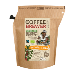 The Coffeebrewer by Grower's Cup Ethiopia Organic Ground Coffee, 20 g