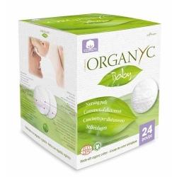 Бавовняні вкладки для грудей Organyc органічні, 24 шт.