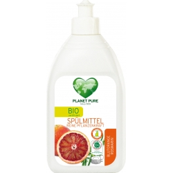 """Засіб для миття посуду """"Червоний апельсин і розмарин"""" Planet Pure органічний, 510 мл"""