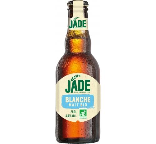 Пиво світле нефільтроване органічне Jade Blanche, 250 мл