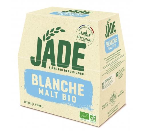 Пиво світле нефільтроване органічне Jade Blanche, упаковка 6х250 мл